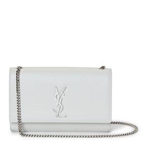 YSL Kate white/silver crossbody